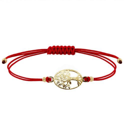 Гривна с червен конец и златен елемент Дървото на живота