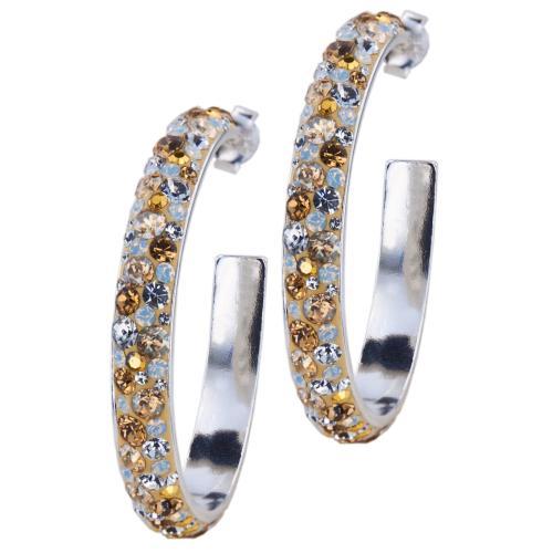 Сребърни обеци с кристали от Swarovski® SO308 Vintage