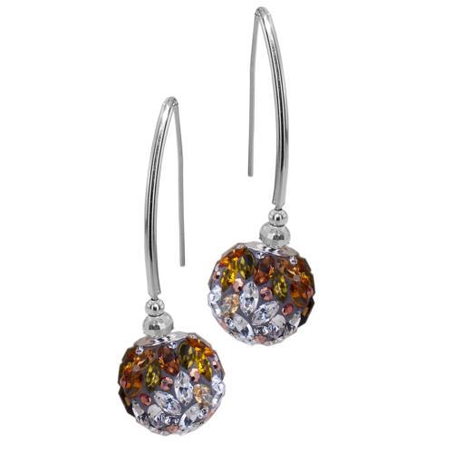 Сребърни обеци с кристали от Swarovski® SO331 Color Drops