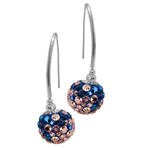 Сребърни обеци с кристали от Swarovski® SO331 Metallic Rose Gold