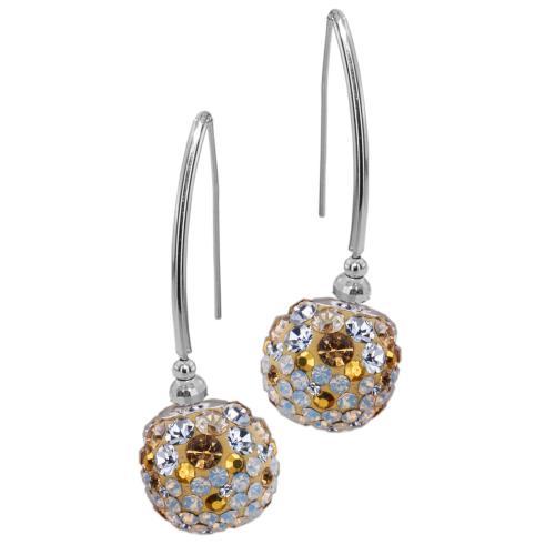 Сребърни обеци с кристали от Swarovski® SO331 Vintage