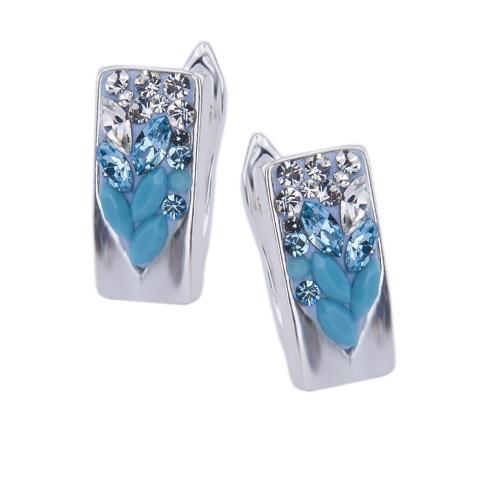 Сребърни обеци с кристали от Swarovski® SO348 Blue Drops
