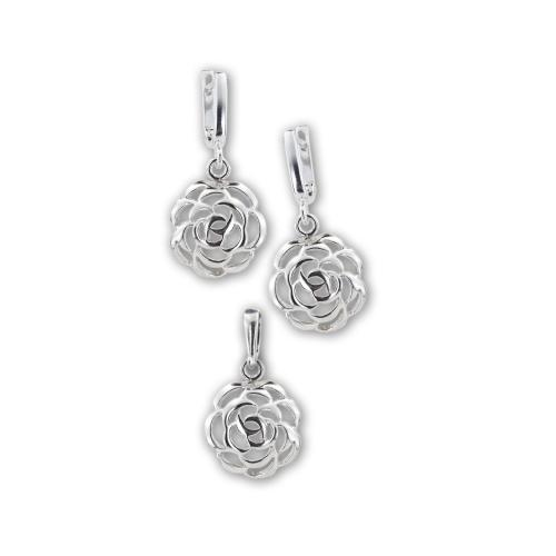 Сребърен комплект розички