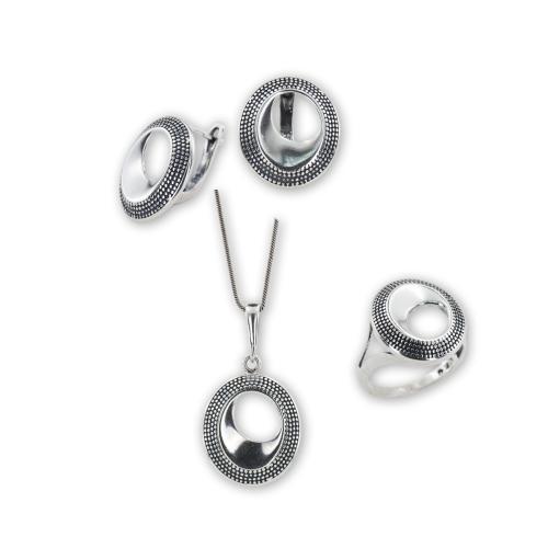 Сребърен комплект  7134