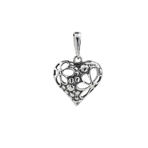 Сребърен Медальон във Формата На Сърце 7205
