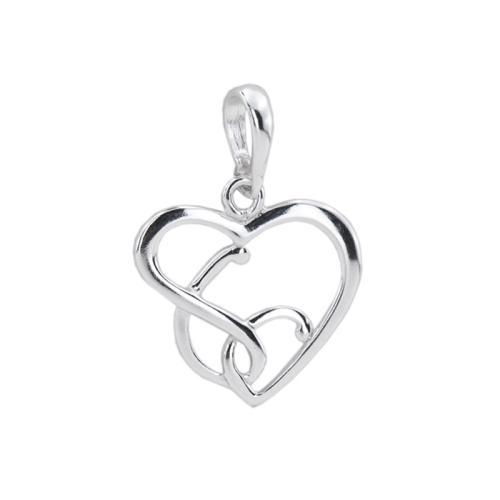 Сребърен Медальон във Формата На Сърце 7207