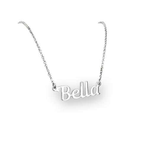 Сребърно колие Bella