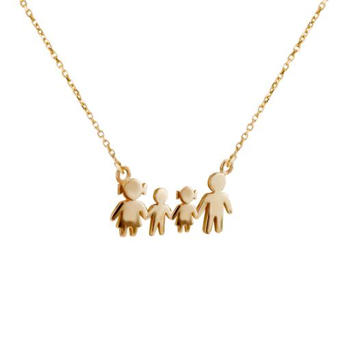Златно колие - семейство с момче и момиче