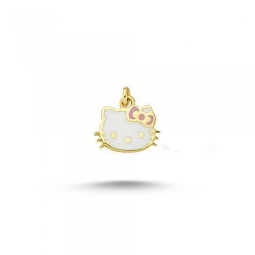 """Детски златен медальон """"Hello Kitty"""""""