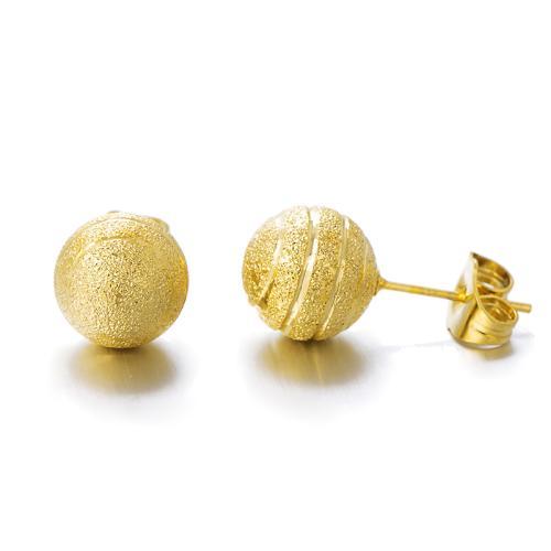 Златни обеци топче 6мм