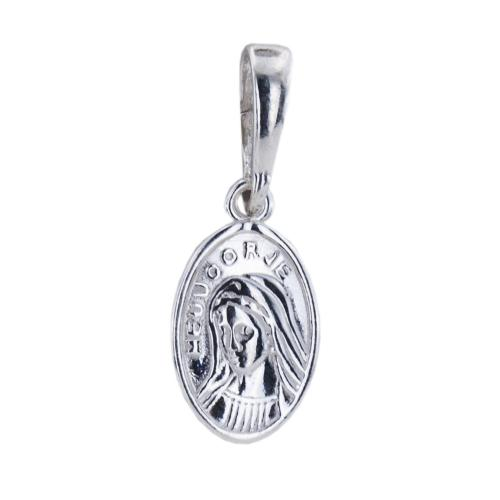 Сребърен медальон с лика на Света Богородица 7214
