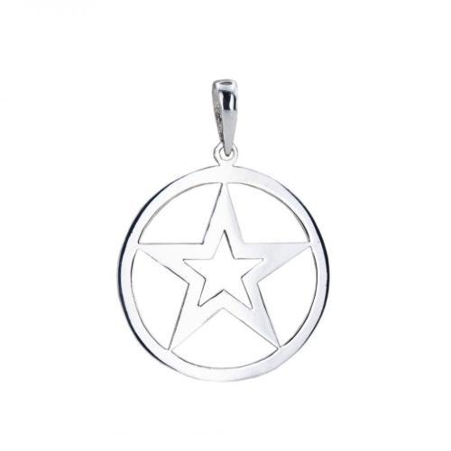Сребърен медальон Звезда 7217