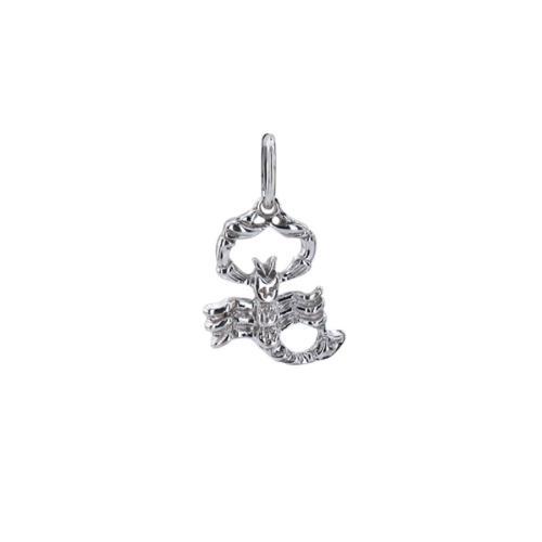 Сребърен медальон скорпион