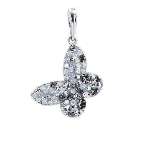 Сребърен медальон с кристали от Swarovski® SM289 Silver Shade