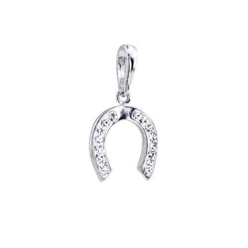 Сребърен Медальон подкова С Кристали От Swarovski® SM291 Crystal