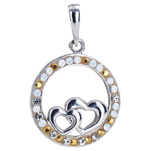 Сребърен медальон с кристали от Swarovski® SM293 Vintage
