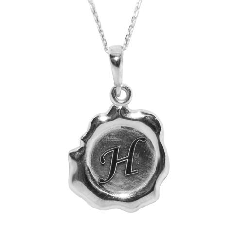 Сребърен медальон - Восъчен печат с буква или послание по избор