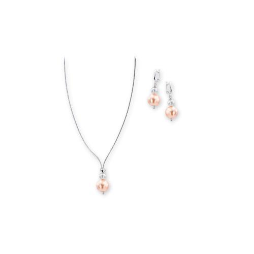 Колие и обеци с перли от Swarovski® и сребърни елементи PP5