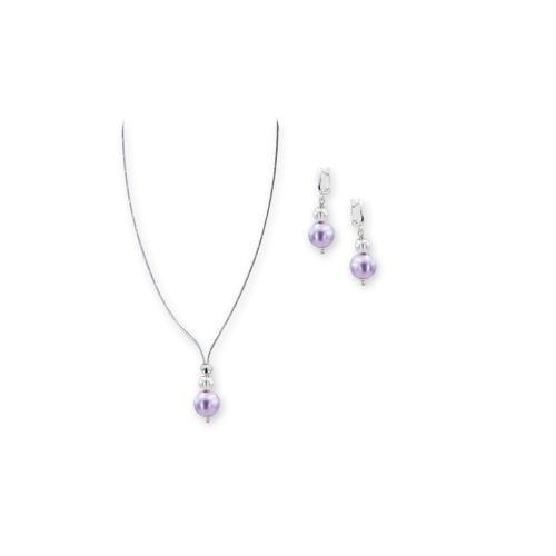 Колие и обеци с перли от Swarovski® и сребърни елементи PP6
