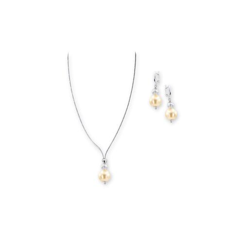 Колие и обеци с перли от Swarovski® и сребърни елементи PP7