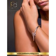 Сребърна Гривна С Кристали От Swarovski® SG431 Peach Gold