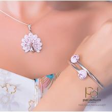 Сребърен медальон с кристали от Swarovski® SM266 Color