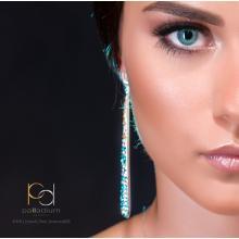 Сребърни обеци с кристали от Swarovski® SO370 Colorful Drops