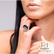 Сребърен Пръстен С Кристали От Swarovski® SP704 White Opal and Crystal