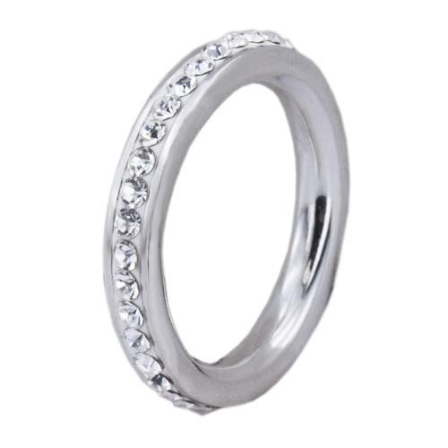 Сребърен пръстен с кристали от Swarovski®  SP652 Crystal