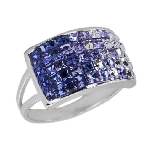 Сребърен пръстен с кристали от Swarovski® SP650 Tanzanite Violet and Crystal