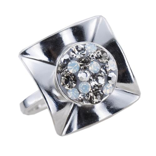 Сребърен пръстен с кристали от Swarovski® SP713 Silver Shade