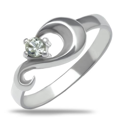 Сребърен пръстен безкрайност с циркон