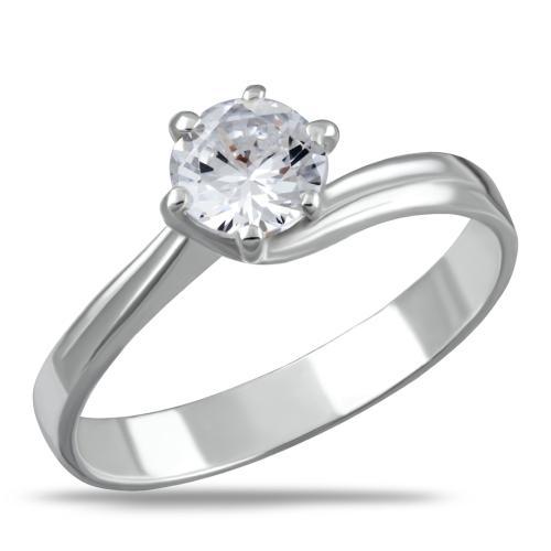 Сребърен пръстен с цирконий