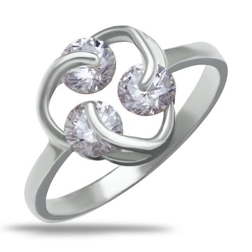 Сребърен пръстен с три циркония