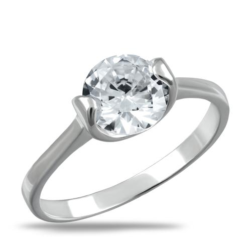 Сребърен пръстен с лек овал
