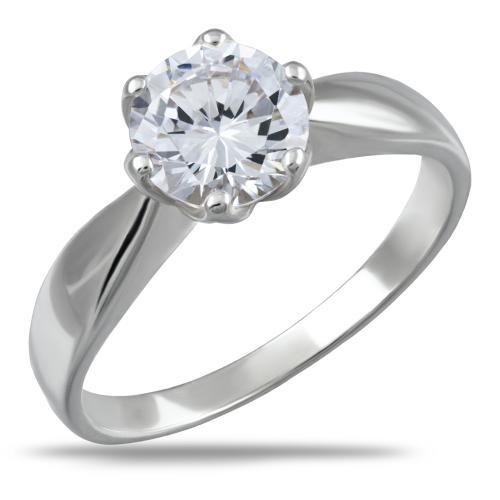 Сребърен пръстен с циркон