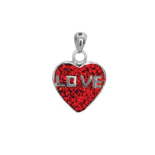 Сребърен медальон с кристали от Swarovski® SM262 Light Siam