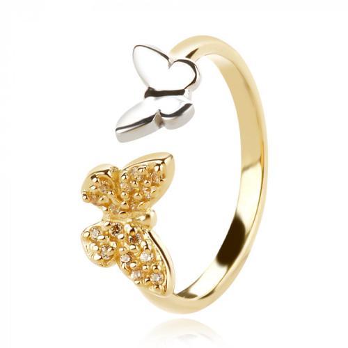 """Дамски златен пръстен """"Пеперуди"""""""