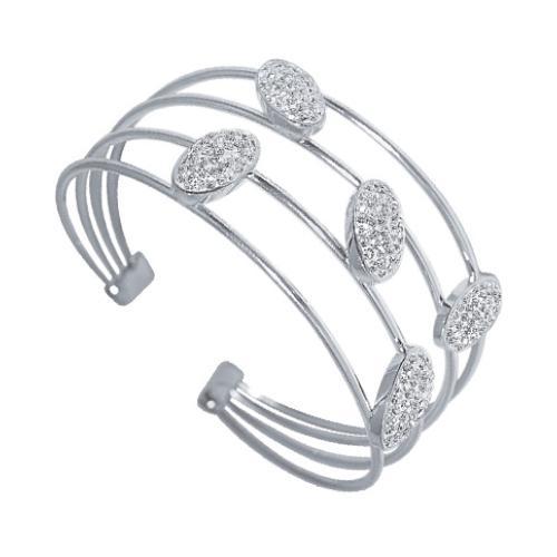 Сребърна гривна с кристали от Swarovski® SG403