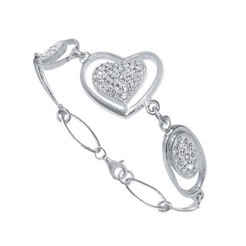 Сребърна гривна с кристали от Swarovski® SG404