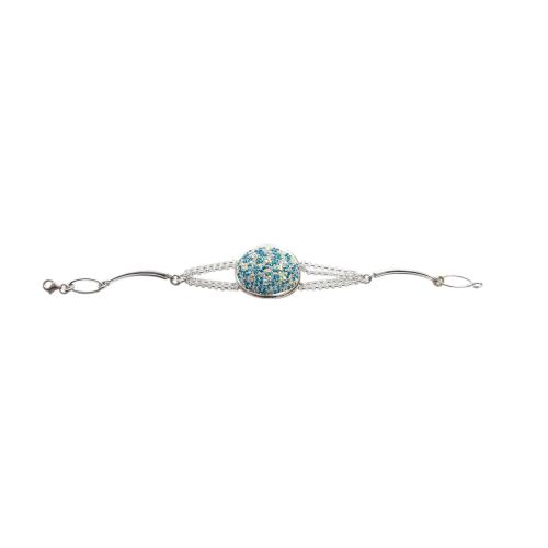 Сребърна гривна с кристали от Swarovski® SG411