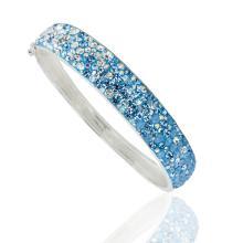 Сребърна гривна с кристали от Swarovski® SG417 Crystal and Steel Drops