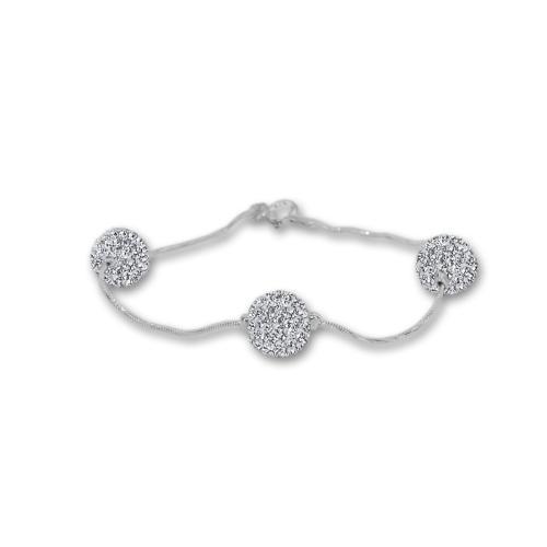 Сребърна гривна с кристали от Swarovski® SG419