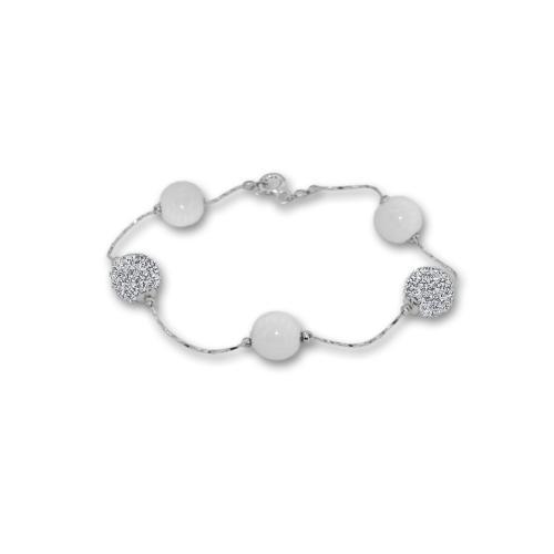 Сребърна гривна с кристали от Swarovski® SG420