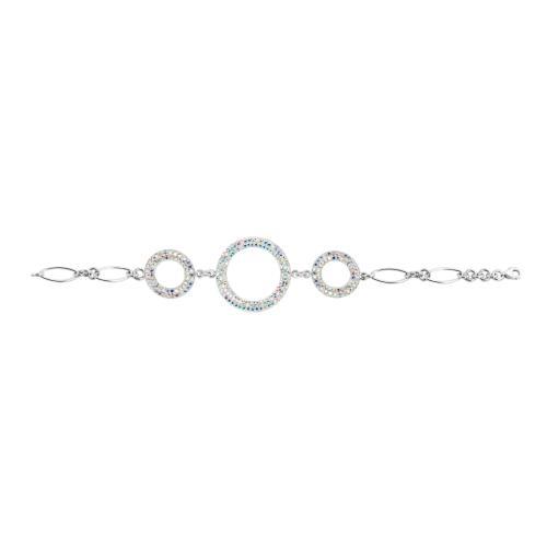 Сребърна гривна с кристали от Swarovski® SG425