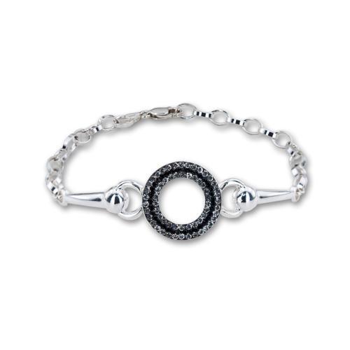 Сребърна гривна с кристали от Swarovski® SG426