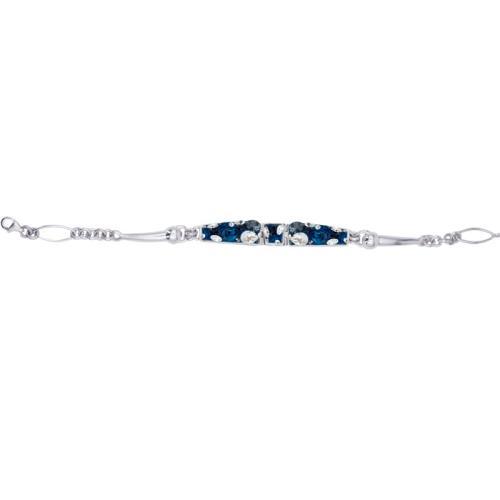 Сребърна гривна с кристали от Swarovski® SG430 Royal