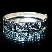 Сребърна гривна с кристали от Swarovski® SG417 Black Marquise