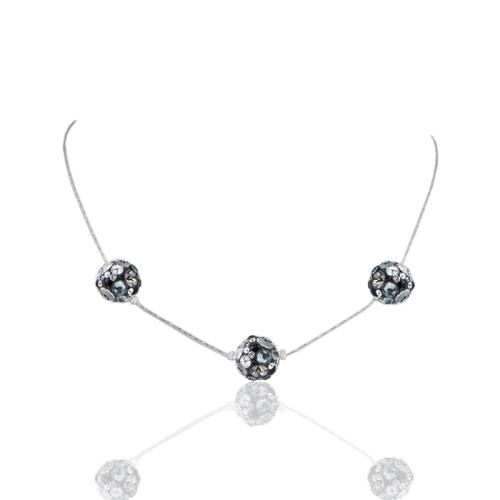 Сребърно колие с кристали от Swarovski® SK512 Late Night