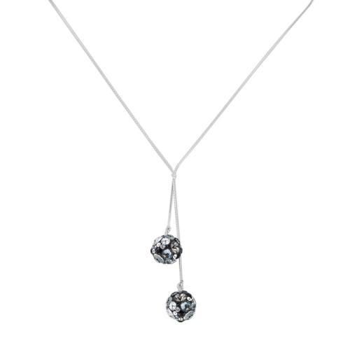 Сребърно колие с кристали от Swarovski® SK513 Late Night